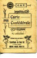 N°72556 -carte CGT Aveyron Mineurs Du Bassin D'Aubin -1918- - Mines