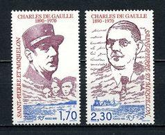 SPM MIQUELON 1990  N° 531/532 ** Neufs MNH Superbe C 1,90 € Célébrités Celebrities - De Gaulle Président Général - Neufs