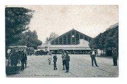 - CPA TUNIS (Tunisie) - La Gare Du Nord (avec Personnages Et Attelages) - Photo L. V. N° 9 - - Tunisie