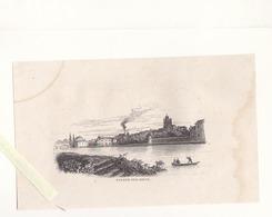 Nogent Sur Seine Aube  / Gravure Originale 1836 / Dim 11 X 18.5 Cm - Vecchi Documenti