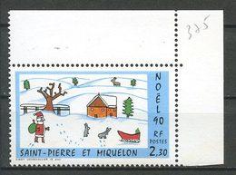 SPM MIQUELON 1990  N° 533 ** Neuf MNH Superbe C 1.30 € Dessin Enfants Noël Christmas Lechevallier - Neufs