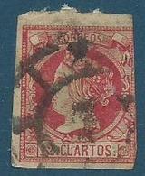 Timbre Espagne Isabelle II N° 1860 Yvt 53 - Oblitérés