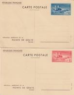 2 Entiers Pointe De Grave - Départ De LA FAYETTE. VUE MEMORIAL - Entiers Postaux
