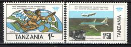 TANZANIA - 1984 - 40° ANNIVERSARIO DELL'ORGANIZZAZIONE DELL'AVIAZIONE CIVILE - MNH - Tanzania (1964-...)