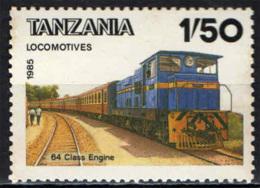 TANZANIA - 1985 - LOCOMOTIVA - MNH - Tanzania (1964-...)