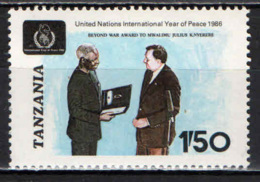 TANZANIA - 1986 - ANNO INTERNAZIONALE DELLA PACE - MNH - Tanzania (1964-...)