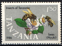 TANZANIA - 1987 - INSETTI DELLA TANZANIA - API - MNH - Tanzania (1964-...)