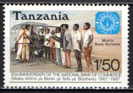 TANZANIA - 1987 - UFFICIO BANCARIO MOBILE - MNH - Tanzania (1964-...)