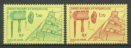SPM MIQUELON 1991 N° 535/536 ** Neufs MNH Superbes C 1.80 € Bateaux Boats Ships Transports Outils De Voilier Tools - Neufs