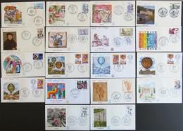 FRANCE Année 1983 Lot De 55 Enveloppes 1er Premier Jour FDC ETB (CV 146 €) Port Réduit 1 - France