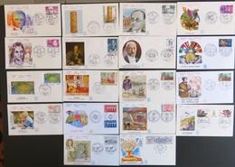 FRANCE Année 1984 Lot De 44 Enveloppes 1er Premier Jour FDC ETB (CV 128 €) Port Réduit 1 - France