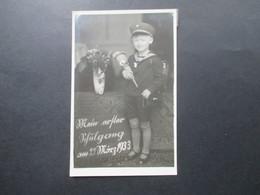 Echtfoto AK Schule / Einschulung Mein Erster Schulgang 29. März 1933 Atelier Beddig Braunschweig Grundschule - Schulen