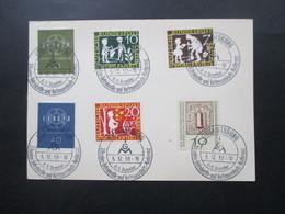 BRD 1959 Heuss GA Mit 7 Weiteren Marken SST Augsburg IGM 3. Bundes Betriebsräte Und Vertrauensleute Konferenz Augsburg - [7] Federal Republic