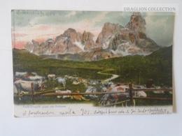 D163398 LITHO   Italia, Pala-Gruppe Gegen Den  Rollepass  PU 1904   Cancel Holoubkov Bohemia - Trento