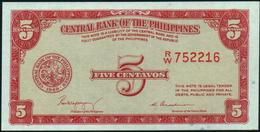 PHILIPPINES - 5 Centavos Nd.(1949) UNC P.126 - Philippines