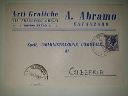 CP419-Cartolina Pubblicitaria A. Abramo - Arti Grafiche - Catanzaro - 1900-44 Victor Emmanuel III