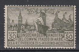 MAN MARINO - Michel - 1923 - Nr 89 - MNH** - Nuevos
