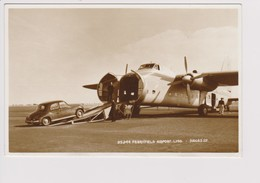 Vintage Rppc Silver City Airlines Bristol Type 170 Superfreighter Mk 32 Aircraft - 1919-1938: Between Wars