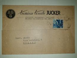 CP423-Cartolina Pubblicitaria Tecnica Tessile JUCKER - Milano - 1900-44 Vittorio Emanuele III