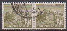 Berlin 1949 MiNr.53 Paar O Gest  Berliner Bauten ( B 34 ) Günstige Versandkosten - Gebraucht