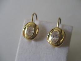 Orecchini Pendenti Ovali Con Zircone - Earrings