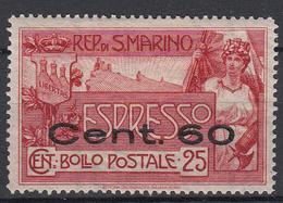 SAN MARINO - Michel - 1923 - Nr 88  - MH* - Timbres Express