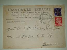 CP428-Cartolina Pubblicitaria Fratelli Bruni - Ferramenta Colori - Amantea - 1900-44 Victor Emmanuel III