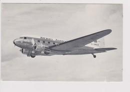 Vintage Rppc Derby Airways Douglas Dc-3 BEA B.E.A. British European Airways Aircraft - 1946-....: Modern Era