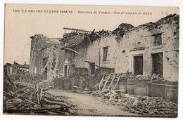 BRAS SUR MEUSE --Rue Principale  Grande Guerre 1914-18--Bombardements - France
