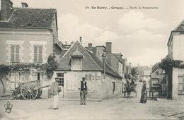 "French Card In A Village With Advert Of "" Au Planteur De Caiffa . Michel Cahen "" Haifa . Judaica - Israel"