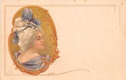 ¤¤  -   Illustrateur   -  Femme Style Art Nouveau    -  Médaillon     -   ¤¤ - 1900-1949