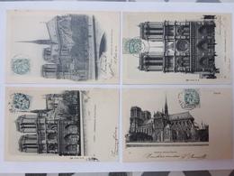 Paris- 4 Cartes Postales- Bois De Boulogne - Notre Dame De Paris