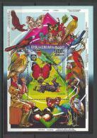 "Madagascar Bloc YT 46 "" Oiseau Et Papillon "" 1988 Neuf** - Madagascar (1960-...)"