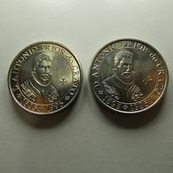 Portugal 2 BU Coins 100 Escudos D. António Prior Do Crato - Monedas & Billetes