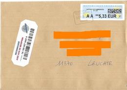 Cachet Manuel Rectangulaire La Poste Argeles-Gazost Sur Vignette LR R1 AR 5.33€ - Postmark Collection (Covers)