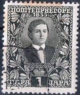 MONTENEGRO, RE NICHOLAS I, 1910, 1 Pa., FRANCOBOLLO USATO Mi. 74  Scott 87, YT 88 - Montenegro