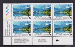 New Zealand 2012 Scenic $3.50 Lake Matheson Control Block 1 Kiwi MNH - New Zealand