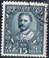 MONTENEGRO, RE NICHOLAS I, 1910, 15 Pa., FRANCOBOLLO USATO Mi. 78  Scott 91, YT 92 - Montenegro