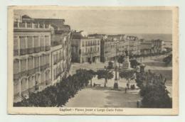 CAGLIARI - PIAZZA JENNE E LARGO CARLO FELICE   VIAGGIATA FP - Cagliari