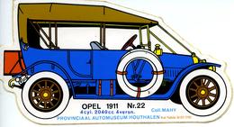 Automuseum Houthalen - Opel 1911 - Autocollants
