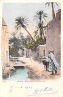 ALGERIE-BISKRA Rue Dans La Vieille Ville  (Cpa  Année 1903 Dos SIMPLE)(Editions Arnold Vollenweider 524)*PRIX FIXE - Biskra
