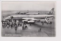Vintage Rppc KLM K.L.M Royal Dutch Airlines Douglas.lockheed Vicount @ Schiphol Amsterdam Airport - 1919-1938: Between Wars