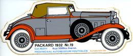 Automuseum Houthalen - Packard 1932 - Autocollants