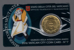 VATICANO 2016 GIUBILEO  COINCARD - Vatican