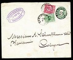 A6186) Belgien Belgium Auffrankierter GA-Umschlag Bastogne 14.08.92 - 1884-1891 Leopold II.