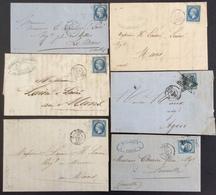51  Paris Étoile Muette Paris 60 T N°14 Et 22    6 Lettres - 1849-1876: Classic Period