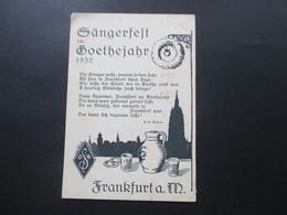 AK Künstlerkarte Bemeleit 1932 Sängerfest Im Goethejahr 1932 Frankfurt A/M Verlag Wort Und Bild Wehner Bemeleit - Music And Musicians
