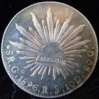 MEXIQUE MONNAIE ARGENT  8 Reales Go 1896 R.S. Guanajuato RARE ANTIQUE MEXICO SILVER COIN - Mexico