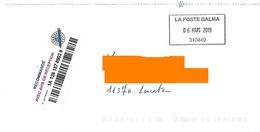 Cachet Manuel Rectangulaire La Poste Balma Sur LR - Postmark Collection (Covers)