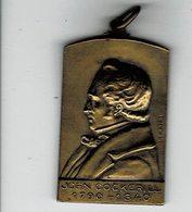Medaille A Determiner John Cockeril1790 1840du 14 Sept 1947translation Des Cendres - Professionals / Firms